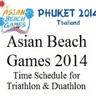 Asian Beach Games 2014. Triathlon & Duathlon Time Schedule