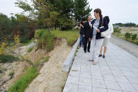 ITU President Marisol Casado visits earthquake devastated area in Japan