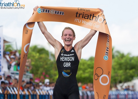 Katie Hewison hammers out first World Cup gold in Cancun