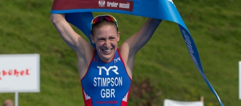 Jodie Stimpson makes it double gold for Great Britain in Kitzbuehel