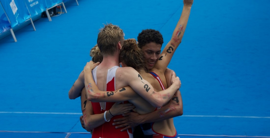 Team Europe 1 are the Nanjing 2014 Youth Olympic Games Mixed Relay Champions