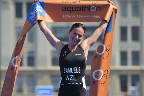 Richard Varga (SVK) and Nicky Samuels (NZL) crowned 2012 ITU Aquathlon World Champions