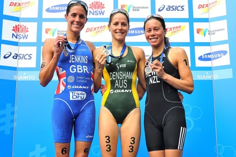 Australia's Erin Densham surges to first ITU World Triathlon Series win in Sydney opener