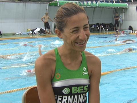 She's back: Vanessa Fernandes in Yokohama