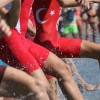Hungary dominates in Junior Men's race.