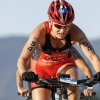 Serrano (MEX) and McQuaid (CAN) battle the off road to be named Cross Triathlon World Champions