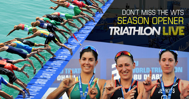 Don't miss the season opener on TriathlonLive.tv