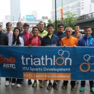The first Para-triathlon Development Camp was hosted in Yokohama, Japan