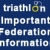 Attention federations -new entry guidelines